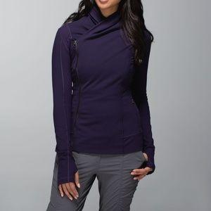 Lululemon Bhakti Yoga Jacket Black Grape Purple
